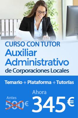 Curso con Tutor - Auxiliar Administrativo de Corporaciones Locales